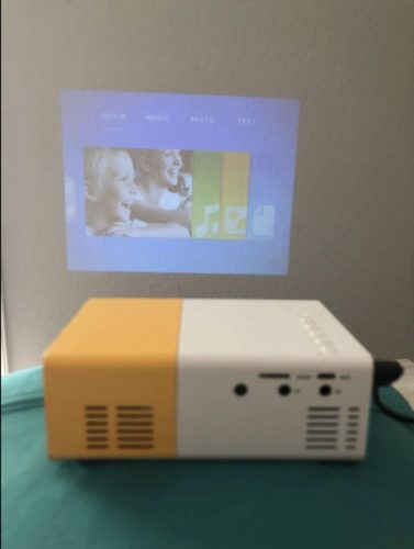 HD LED Mini Portable Projector photo review